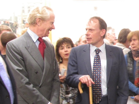 Andrew Marr prior to his presentation