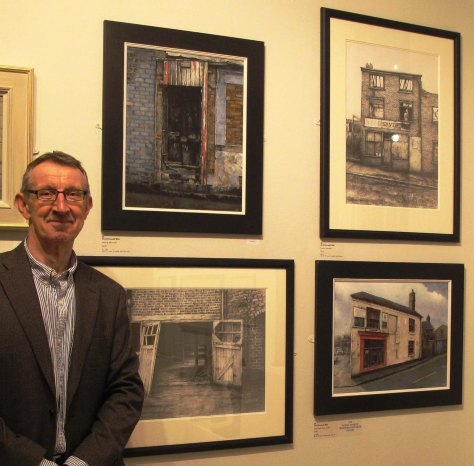 David Brammeld with selected works for the Mall Galleries RBA Exhibition 2014
