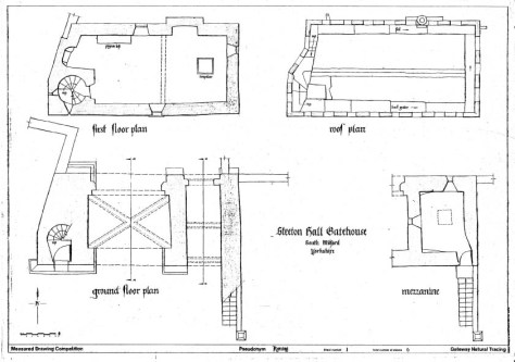 Steeton hall Gatehouse plan