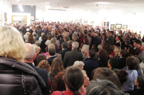 A great turn out for a fantastic show! Mall Galleries RBA 2014 Exhibition