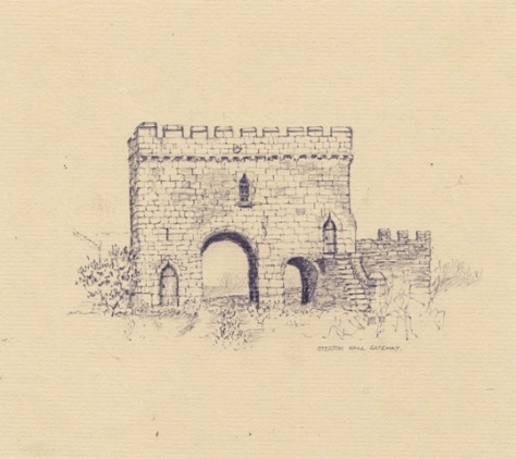 Steeton Hall Gatehouse,  pencil sketch 1982