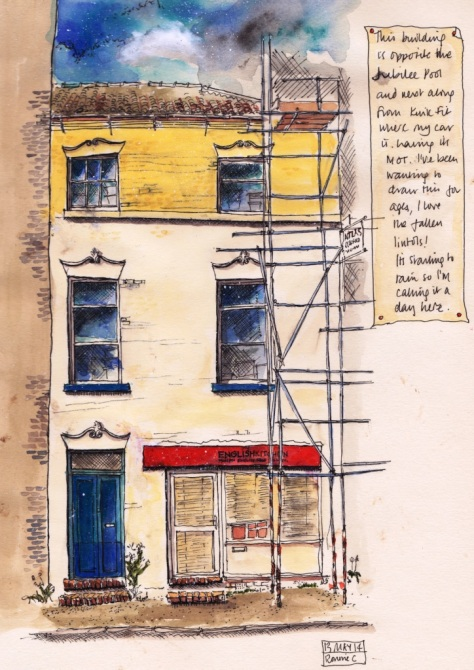 Pen and ink sketch of 7 Brunswick St