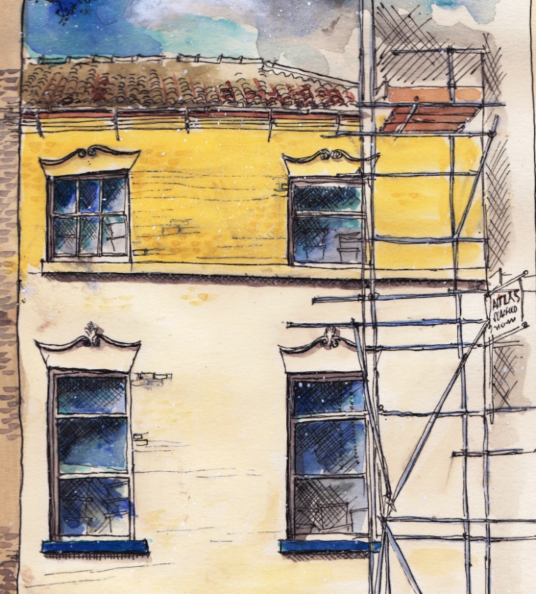 English Kitchen Brunswick Street Newcastle Under Lyme Drawing The Street