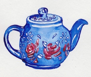 pen and ink teapot
