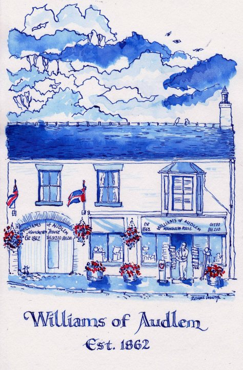 pen and ink wash williams of audlem