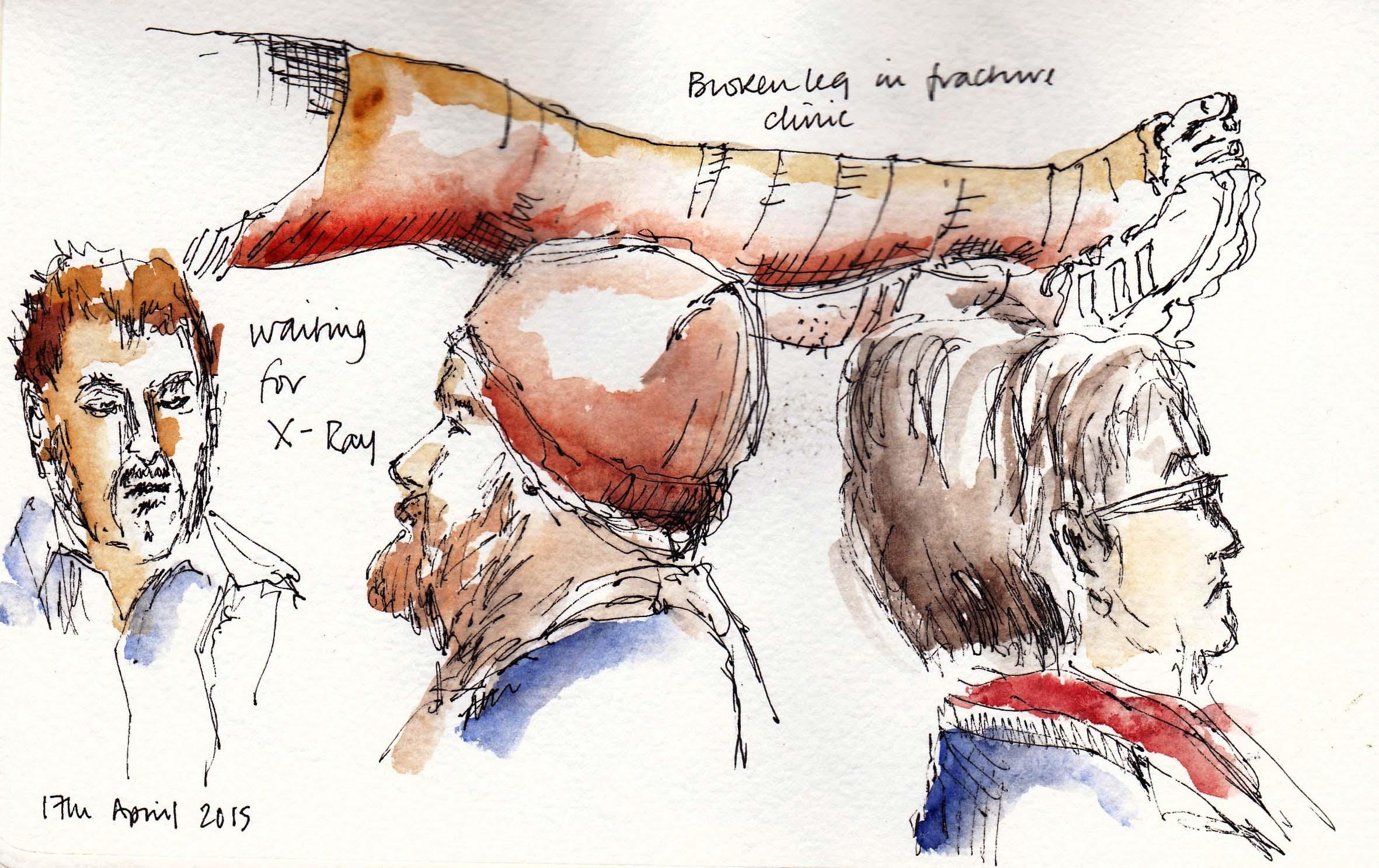 sketch of waiting room