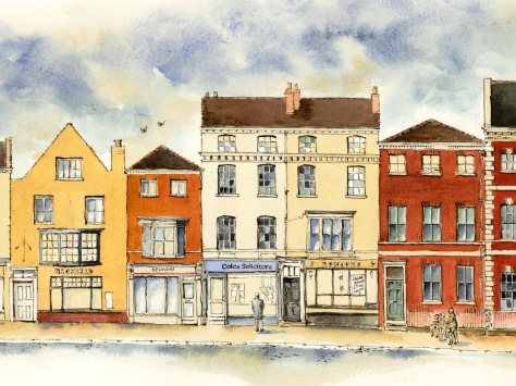 drawing of York nags head