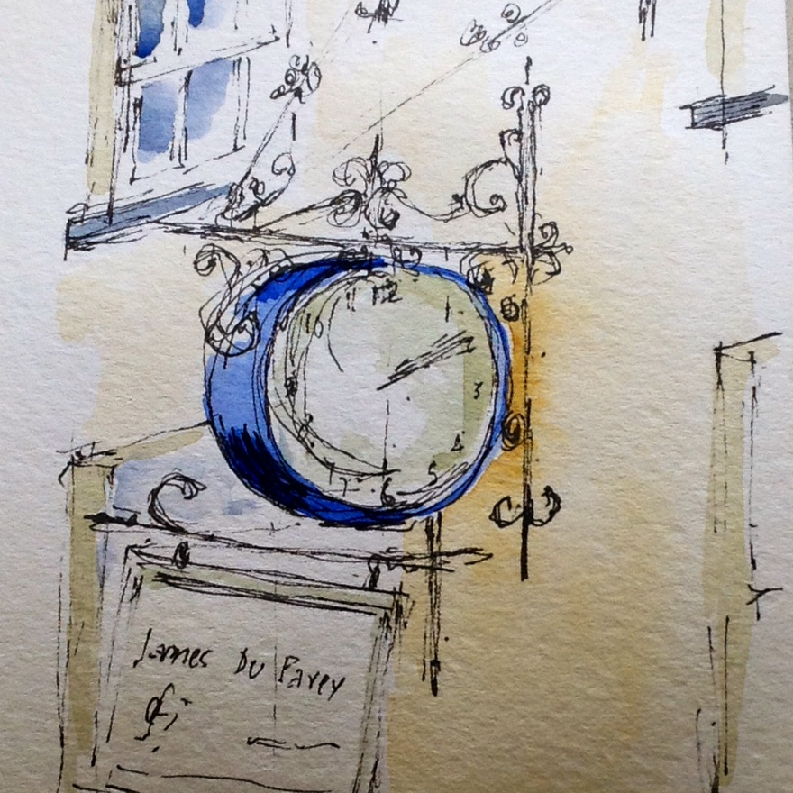 clock at james du pavey