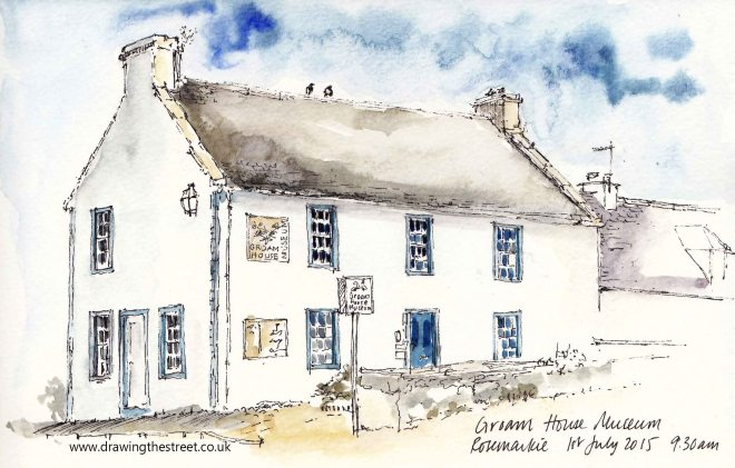 sketch of groam house Museum