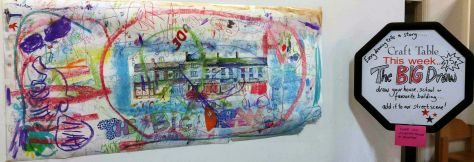 large coloured drawing