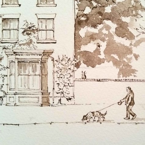5 Man and dog eccleshall