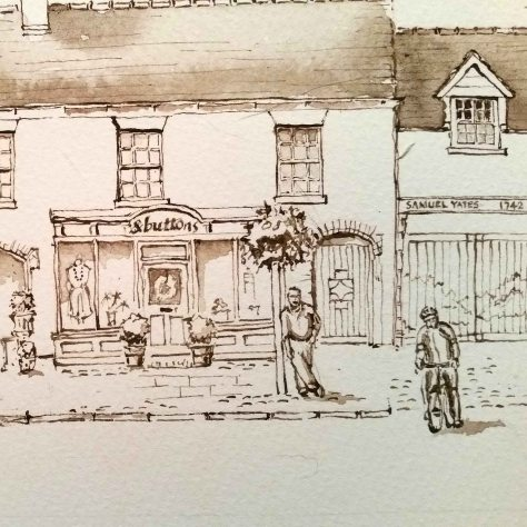 7 Leaning man and man on bike eccleshall
