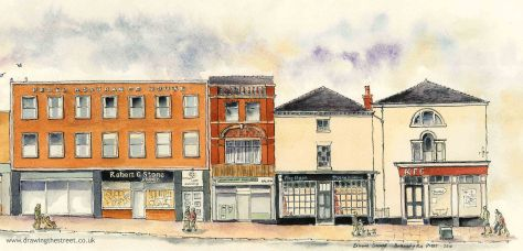drawings of Market Place Burslem