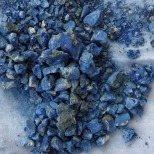 Crushed azurite