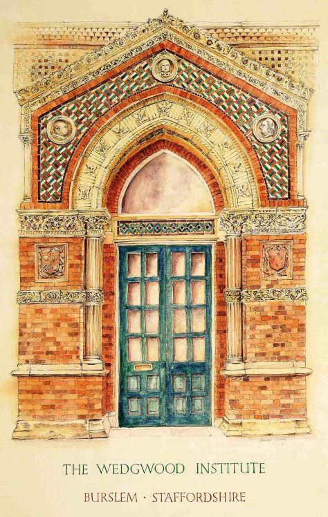 drawing of wedgwood door