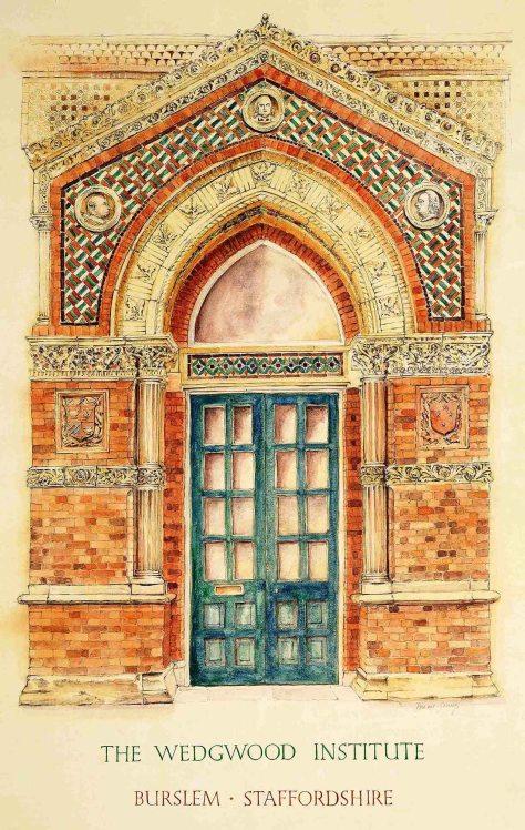 drawing of wedgwood door