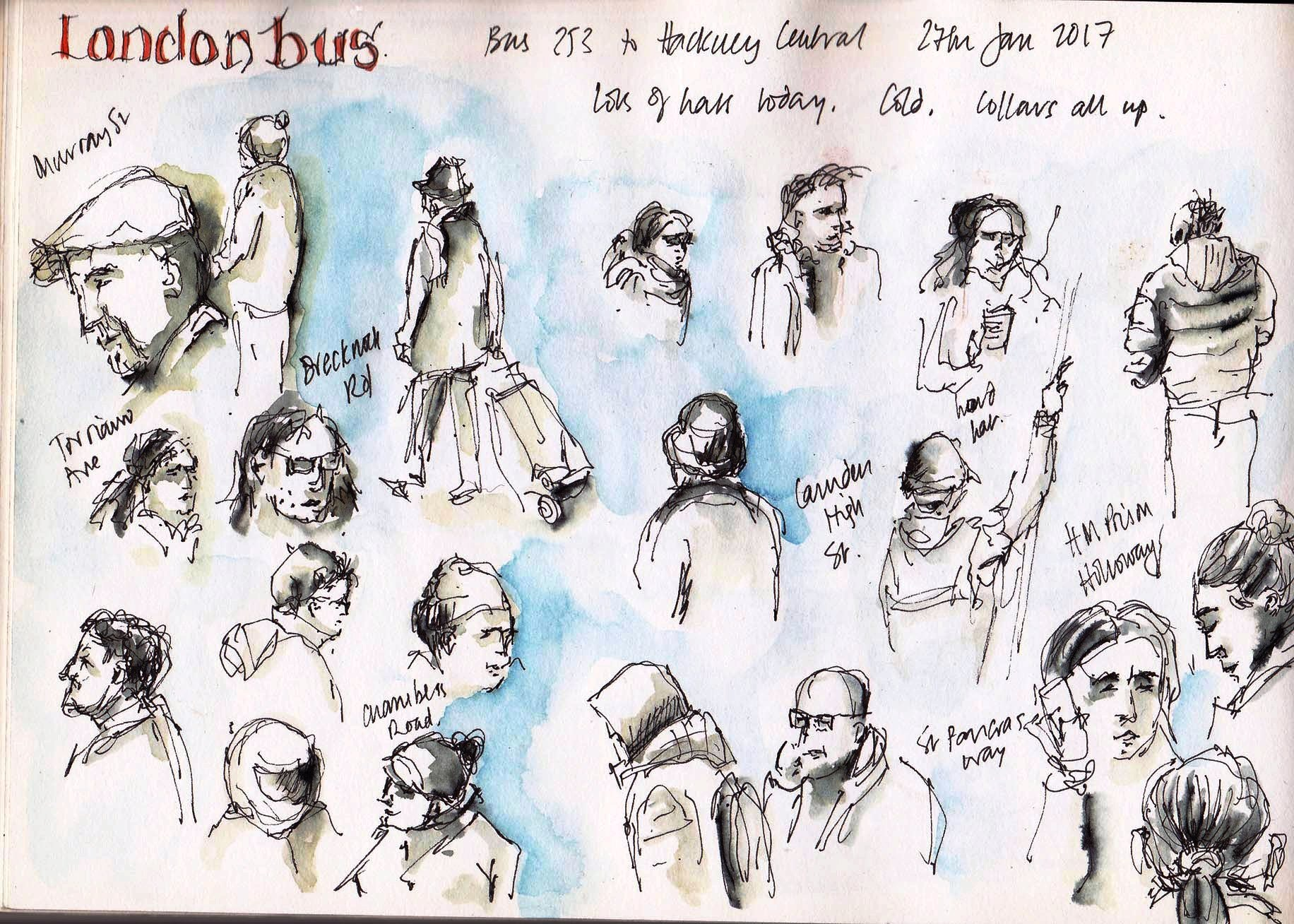 sketches from a london bus