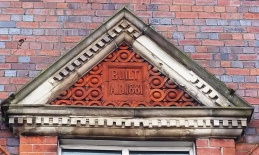 terracotta tiles on vicotian building in newcstle under lyme