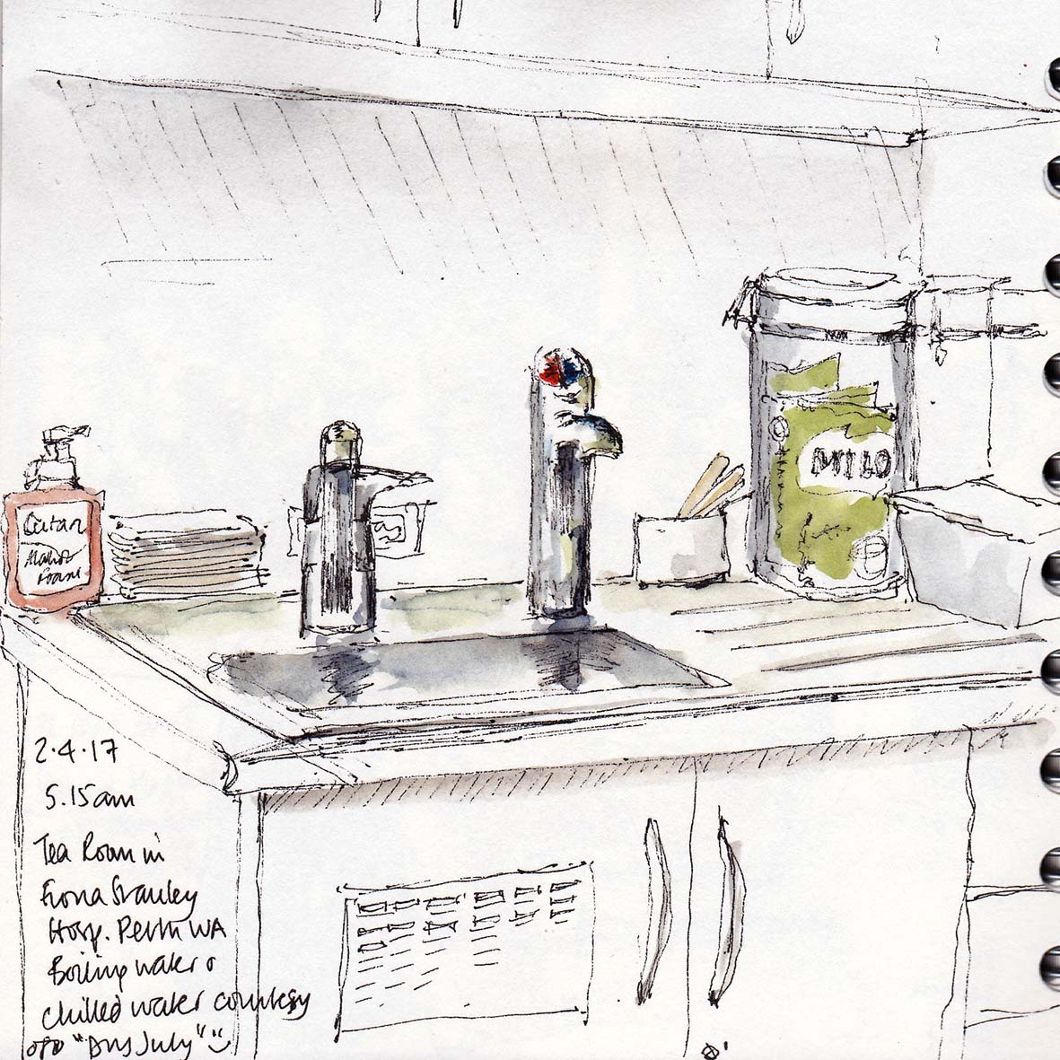 sketch of visitor room fiona stanley hospital