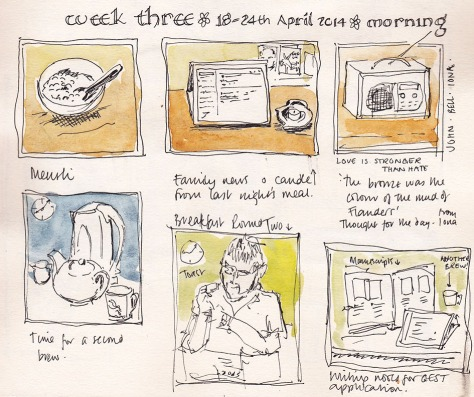 sketch book diary of my day