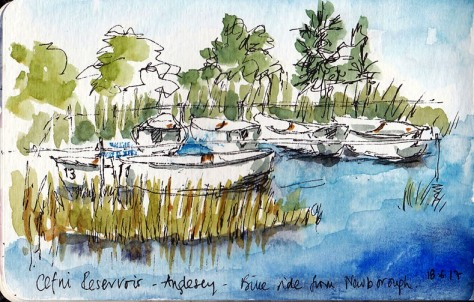 Cefni reservoir boats