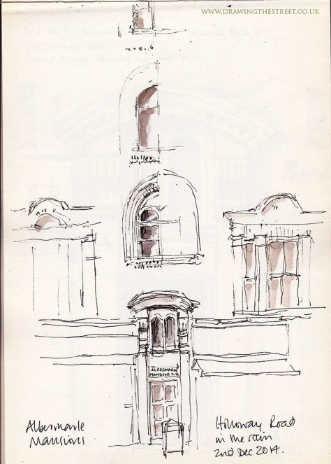 sketch of windows on Albermarle MAnsions