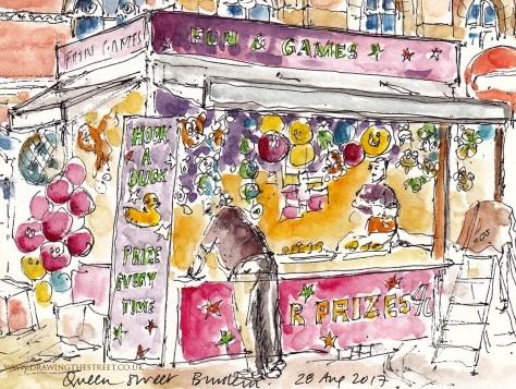 Burslem Unites urban sketch ronnie cruwys