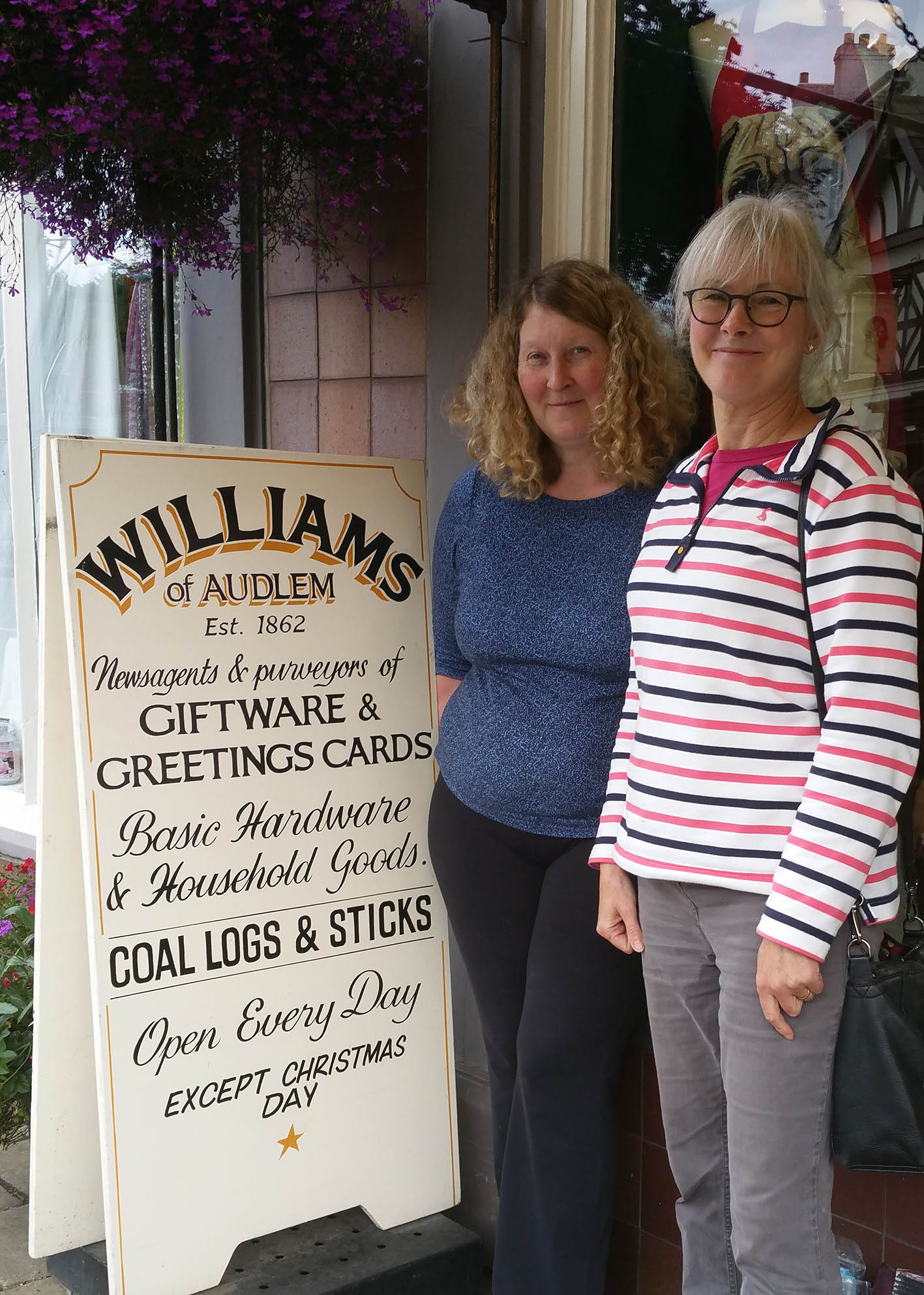 Judy Evans amd ronnie Cruwys at Williams of Audlem