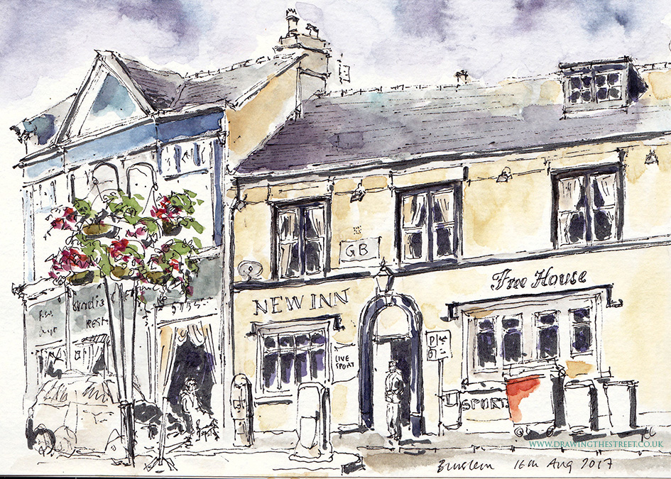 sketch by ronnie Cruwys of New Inn Burslem