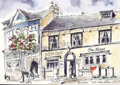 sketch by ronnie Cruwys of New Inn Burslem