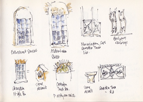 sketches from the bus stop