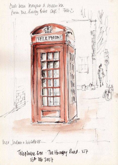 George Gilbert Scott design telephone box Hornsey Road