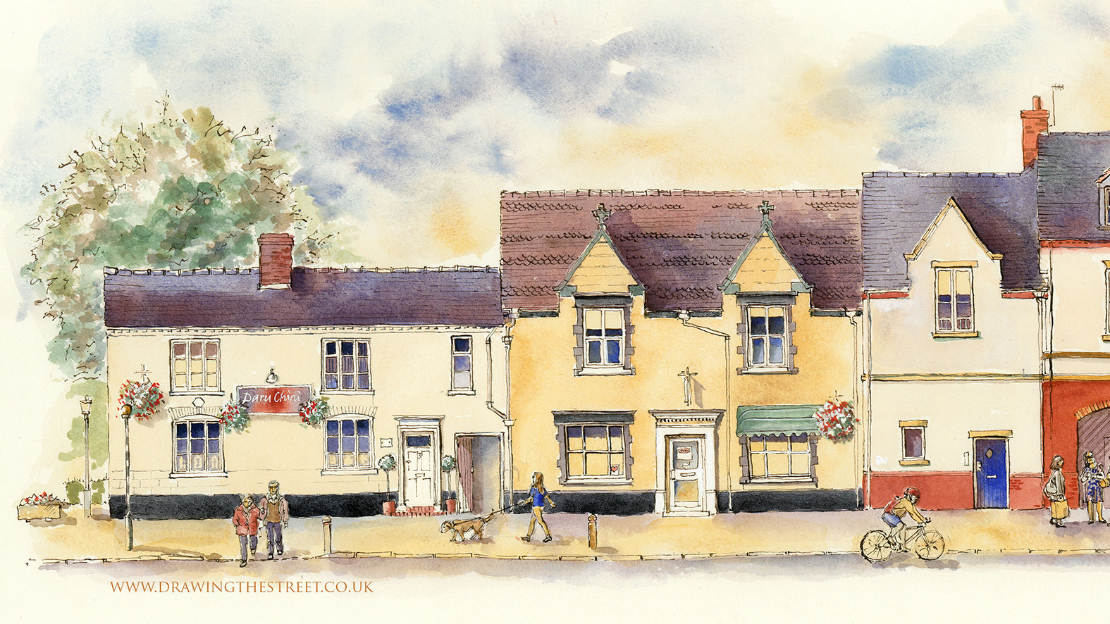 pen and ink art of eccleshall