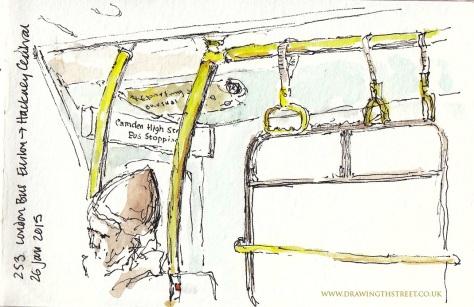 Inside london bus