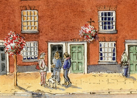 Eccleshall artists on the high street